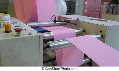papier, usine, fabrication