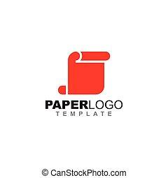 papier, vector, ontwerp, mal, logo, pictogram