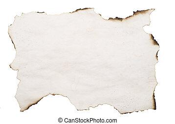 papier, verbrannt