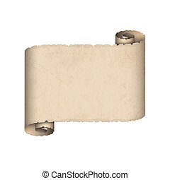 papier, vieux, rouleau
