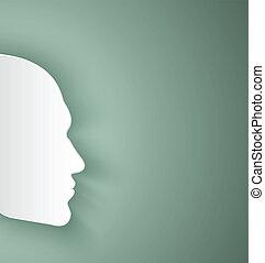 papier, visage humain