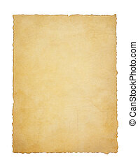 papier, weinlese, pergament, weiß
