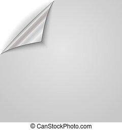 papier, wektor, corner., illustration., ufryzowany