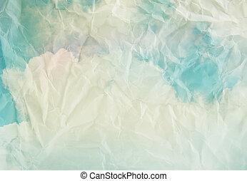 papier, wolkenhimmel, und, himmelsgewölbe, hintergrund