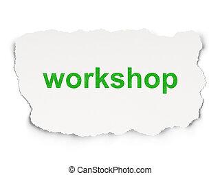 papier, workshop, opleiding, concept:, achtergrond