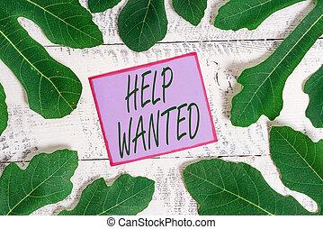 papieraantekening, plaatsen, nieuw, werkgever, wanted., advertentie, zakelijk, employee., schrijvende , het tonen, showcasing, vinden, helpen, foto