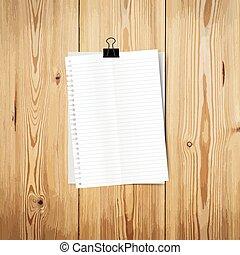 papieren, illustratie, message., vector, leeg, gereed, witte , jouw