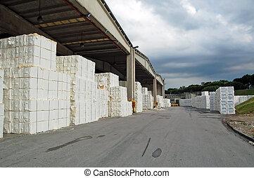 papierfabrik, zellulose, -, fruchtfleisch