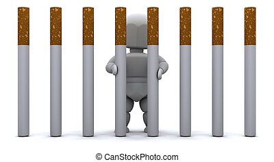 papieros, człowiek, więzienie