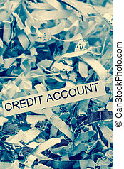 papierschnitzel credit account