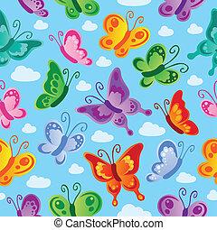 papillon, 2, seamless, fond