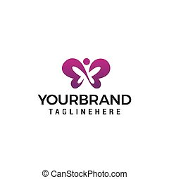 papillon, concept, vecteur, conception, gabarit, logo