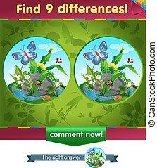 papillon, différences, 9