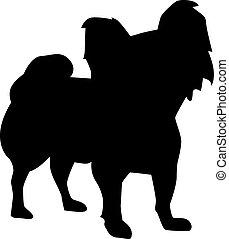 Papillon dog sihouette