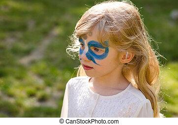 papillon, face-painting