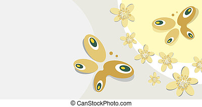 papillon, fond, motif