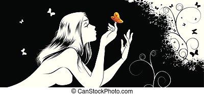 papillon, girl