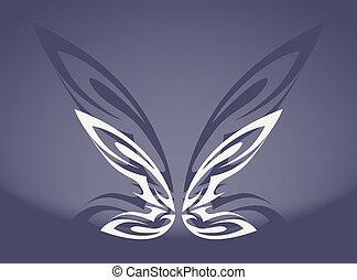 papillon, gris