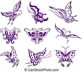 papillon, illustration