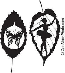papillon, lassen, gemacht, eps