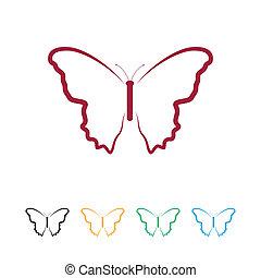 papillon, logo