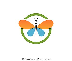 papillon, logo, vektor, illustration., ikone