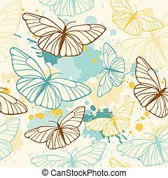 papillon, modèle, seamless