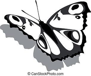 papillon, papier