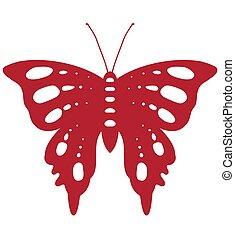 papillon, rouges