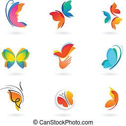 papillon, satz, heiligenbilder