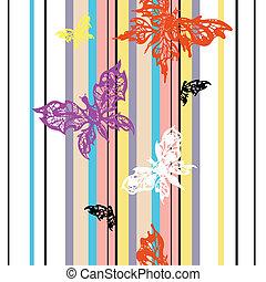 papillon, seamless, fond