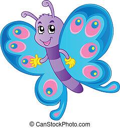papillon, thème, image, 1