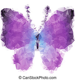 papillon, triangles, violet