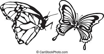 papillon, vector-