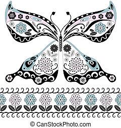 papillon, vendange
