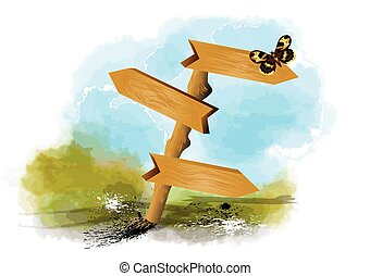 papillon, vide, signe