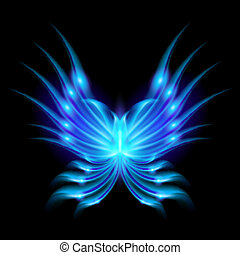 papillon, voler, ailes, ardent