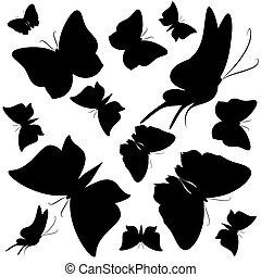 tatouage papillons noir blanc tatouage papillons vecteur search clip art. Black Bedroom Furniture Sets. Home Design Ideas