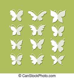 papillons, mettez stylique, ton