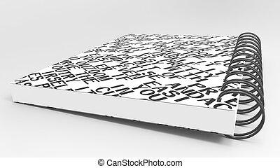 papper, återanvända, anteckningsbok