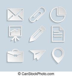 papper, affärsverksamhet ikon