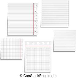 papper, anteckningsbok