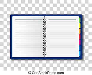 papper, anteckningsbok, illustration