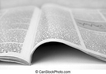papper, artikel, färsk