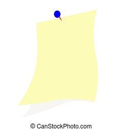 papper, bakgrund, anteckna, vit