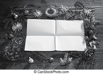 papper, bakgrund, jul, tom