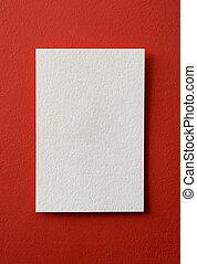 papper, bakgrund, kort, röd
