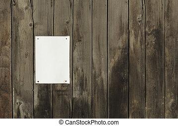 papper, bakgrund, trä, ark, tom