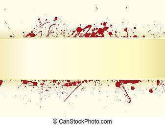 papper, blod, flik, splat