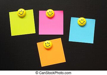 papper, copyspace, smiley